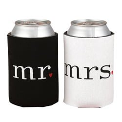 Wedding Can Coolers Gift Set