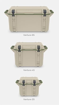 otter box venture cooler sizes