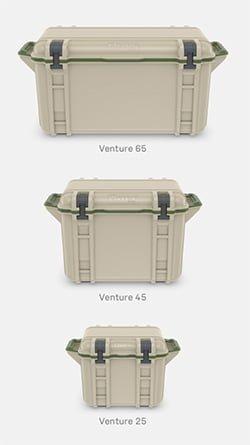 otter box venture cooler sizes