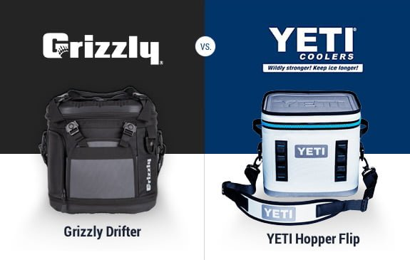 Grizzly Drifter Soft Cooler vs Yeti Hopper