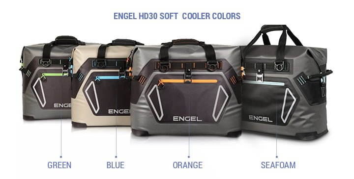 Engel hd30 Soft Cooler colors