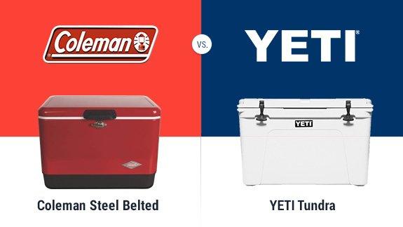 coleman steel belted vs yeti
