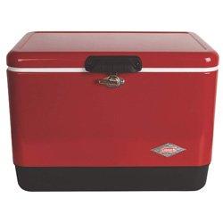 coleman steel ice chest