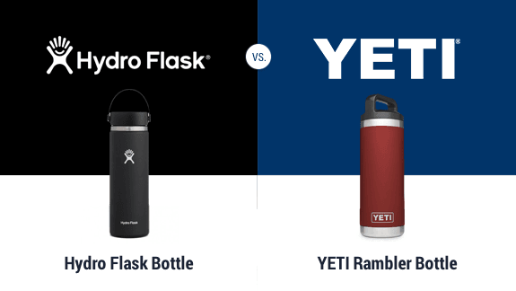 Yeti bottle vs Hydro Flask bottle
