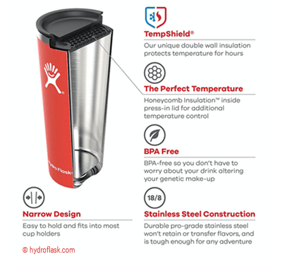 hydro flask tumbler construction features