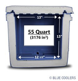 Blue cooler insulation