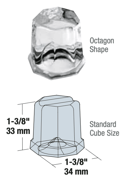 Manitowoc Octagonal Ice Shape Dimensions
