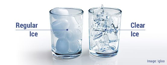 clear ice vs regular ice
