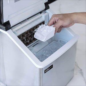 ice machine storage capacity