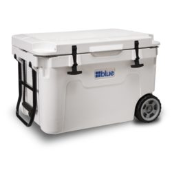 Blue Wheeled Ice Chest White 55qt