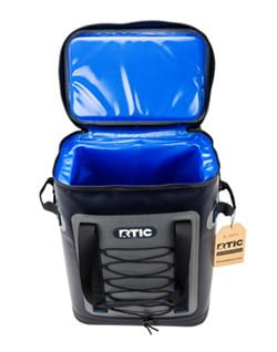 open lid interior rtic soft back pack