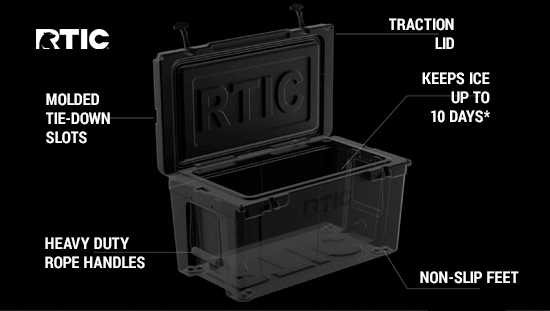 rtic mid hardcooler features