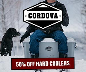 Cordova Holiday Sale - 50% OFF Hard Coolers